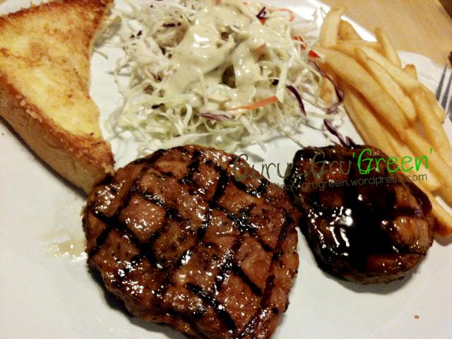 สเต็กหมูพริกไทยดำ-สเต็กบอสตันพอร์ค ร้าน ERT AM ARE GOOD STEAK